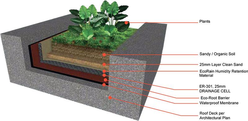 Ecorain Green Roof Amp Planter Box System Bgx Materials
