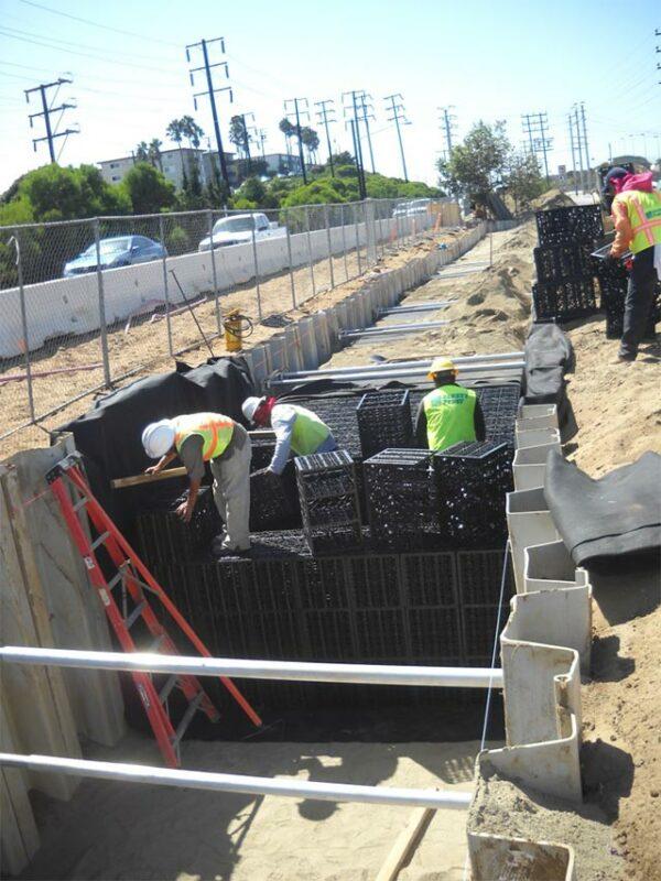 Harvesting Rainwater at the Imperial Highway in California